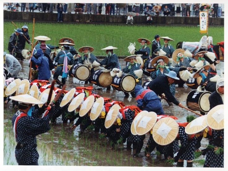 Hanadaue Event of Mibu (rice planting event) #japan #hirosima Intangible Cultural Heritage 【壬生の花田植】北広島町 ユネスコ無形文化遺産