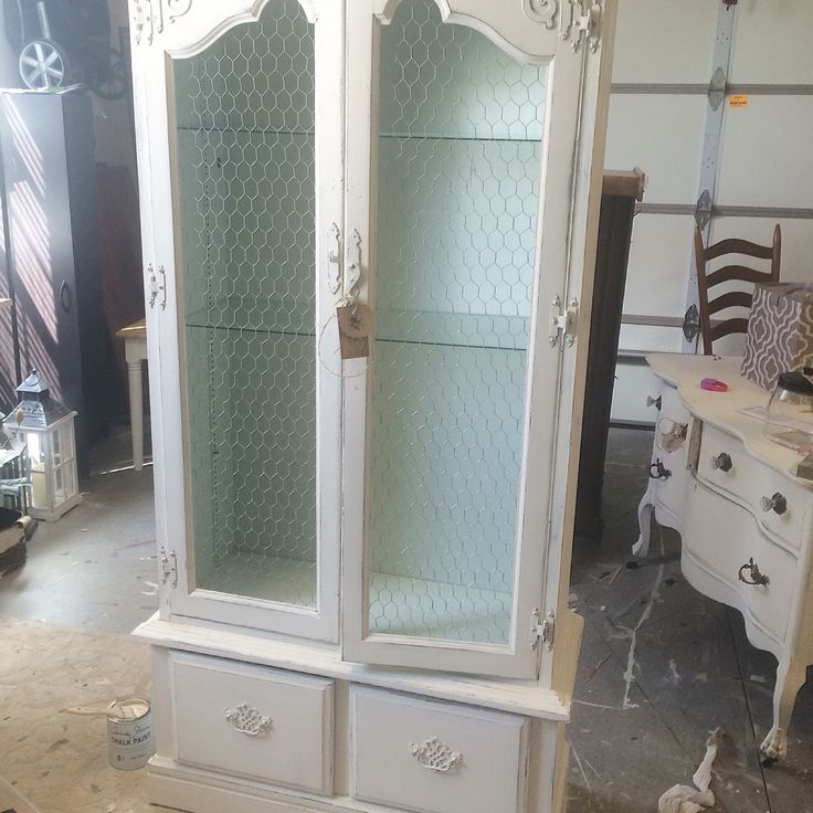 RePurposed gun cabinet by The Shabby Bee