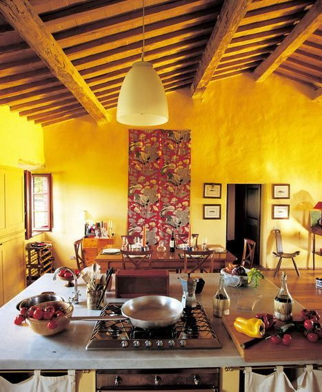 Yellow Paint For Kitchen Walls