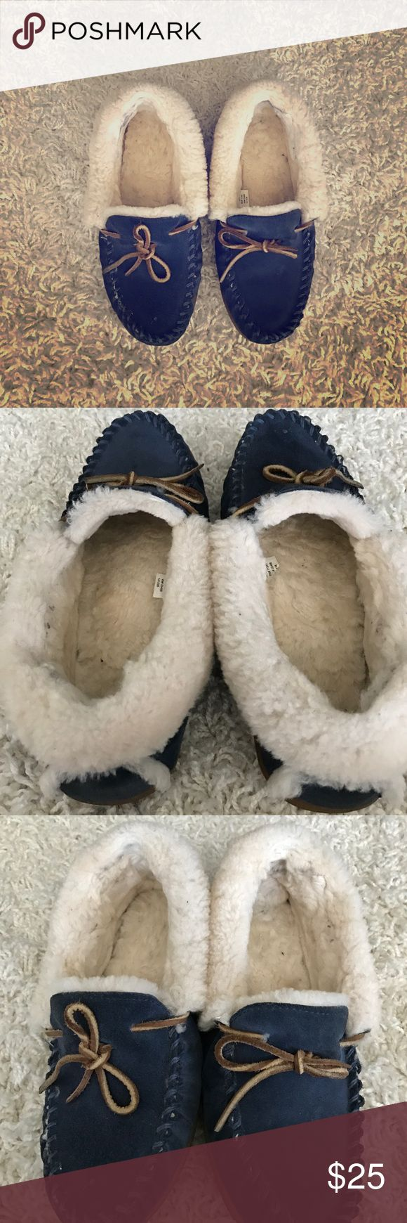 LL Bean Moccs! In excellent condition. The shearling is still soft and fluffy, the treads have not been worn and the outside suede leather is soft and without imperfection! ll bean  Shoes Moccasins