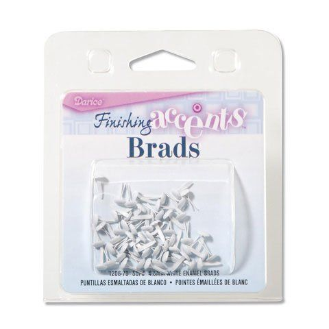 Bulk Buy: Darice DIY Crafts Enamel Brads Number 12 White 4.5mm 50 pieces (6-Pack) 1206-75 * Continue to the product at the image link.
