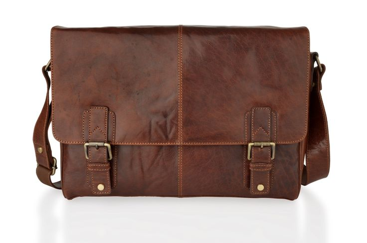 Simple, but rugged style unisex leather landscape messenger bag, perfect for everyday use, but can be used an alternative bag for business or work.  £145.00