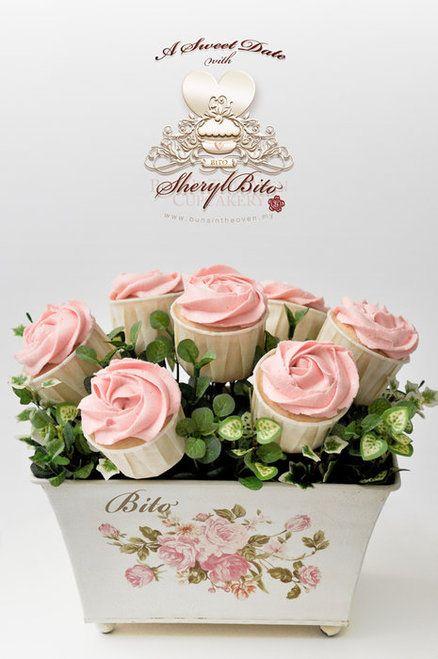 image of Regalo San Valentino Idea Day ♥ rose rosa Cupcake