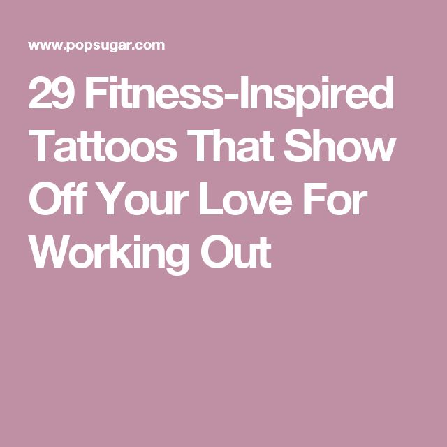 29 Fitness-Inspired Tattoos That Show Off Your Love For Working Out