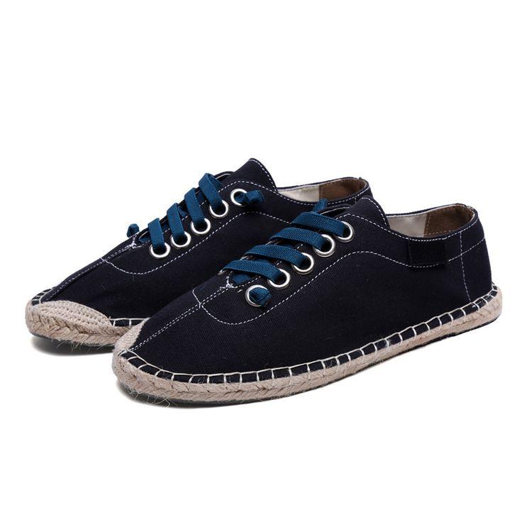 Spring Autumn Flats Men Casual Shoes,Fashion Men Canvas Shoes Male Espadrilles Fisherman's Shoes Zapatillas Deportivas Hombre