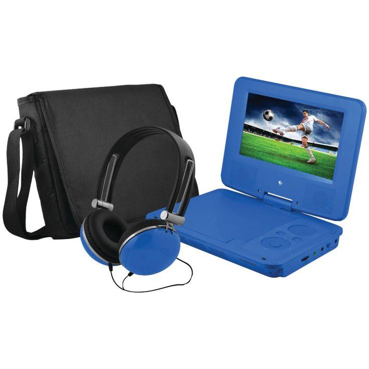 "Ematic 7"" Portable Dvd Player Bundle (blue)"