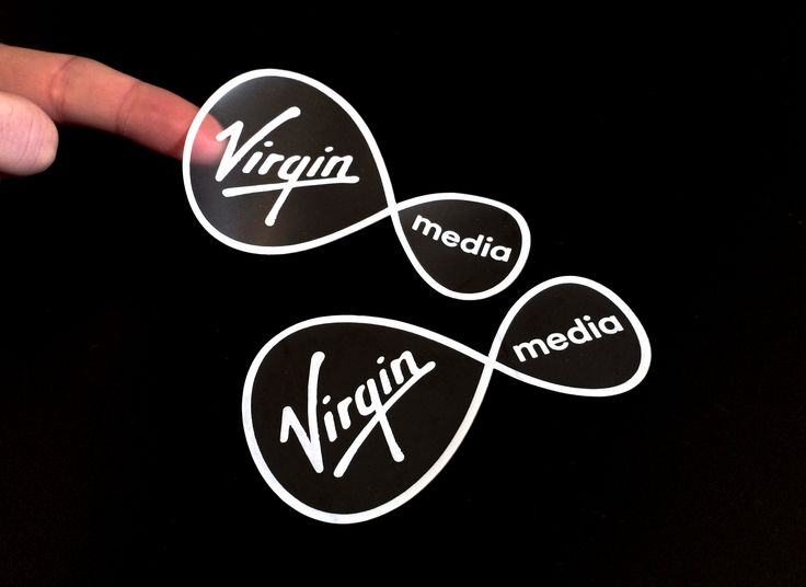 Sticker printing for Virgin Media Ireland.