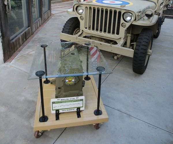 "Military Jeep Engine Block – Custom Glass Table Top (Customer Submission) Let's see what Saul M. had to say about this fantastic DIY Project he did: ""All of us have the ability to create art. In 2009, I drove my 1941 Willys military jeep from Washington D.C. to San Francisco with The Military Vehicle Preservation Association. The…"