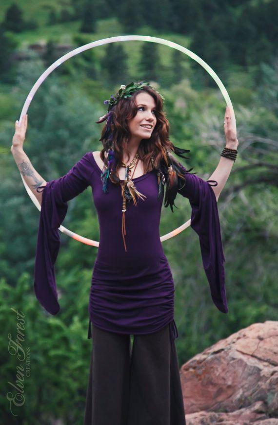 Hadas manga Vestido de campesino ~ bosque de elfos, fiesta ropa, gitano soñador, elfos, mangas de campana, alas, vestido de Faery, vestido bohemio