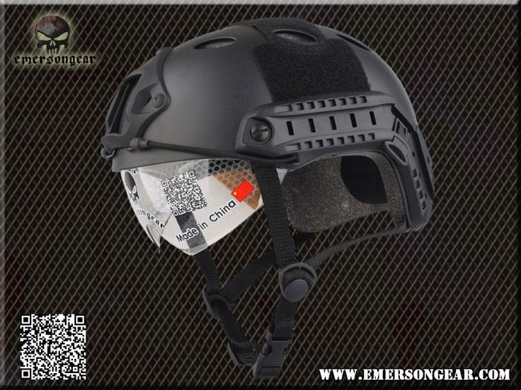 33.90$  Watch here - http://ali4hr.shopchina.info/go.php?t=927999189 - Emerson FAST Helmet with Protective Goggle PJ Type helmet Military airsoft helmet Black EM8819B 33.90$ #aliexpress