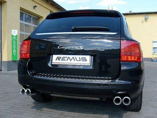 REALIZACJA: Porsche Cayenne S  Pragniemy przedstawić kolejne Porsche z układem wydechowym REMUS INNOVATION. Tym razem jest to Cayenne 1 generacji w wersji S. Dzięki zastosowaniu nowych tłumików oraz większych końcówek wydechu auto zyskało niezwykle basowy dźwięk, perfekcyjnie pasujący do dużego i szybkiego auta. Dzięki nowym końcówkom zyskał również wygląd tylnej części samochodu!  Remus Polska http://www.remus-polska.pl/