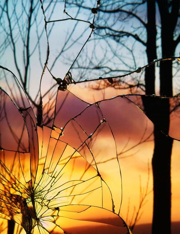 Broken Mirror Evening Sky By Bing Wright