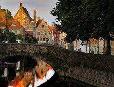 Brujas, Canal, Bélgica, Río, Casa