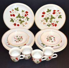 Sheffield ~ Strawberries n' Cream 16-Pc Dinnerware Set. I love these so much!
