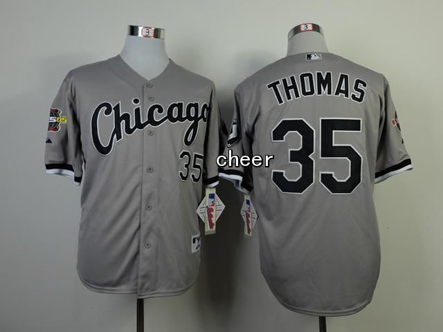 Men's MLB Chicago White Sox #35 Thomas Grey Jersey