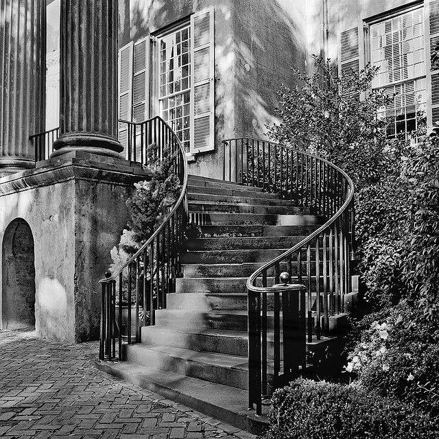College of Charleston stairway detail.
