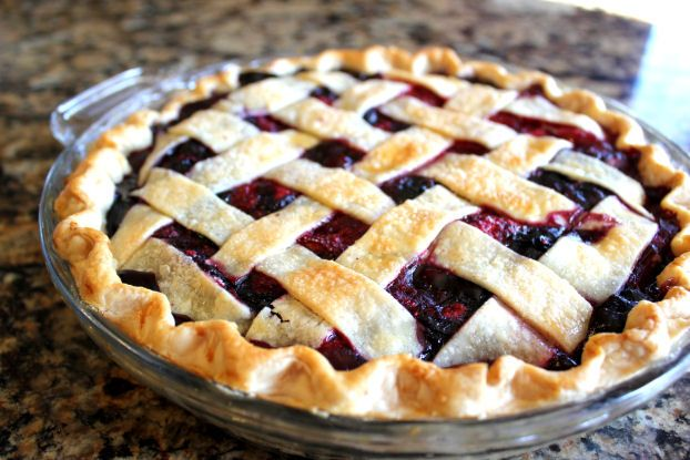 Triple Berry Pie with Lattice Top (Easier than you think!) - Jamie Cooks It Up - Family Favorite Food and Recipes