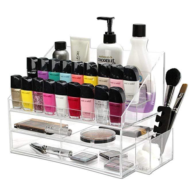 Ikee Design Premium Acrylic Nail Polish Rack Display Makeup