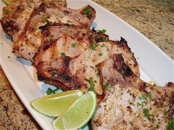CHULETAS DE PUERCO, Grilled Pork Chops
