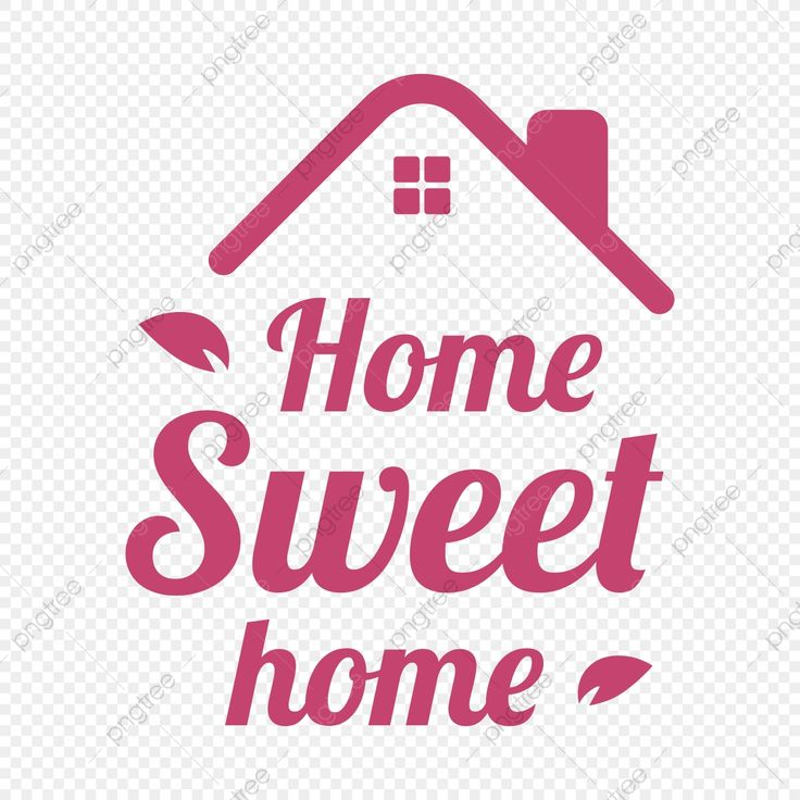 Home sweet home quote slogan type word vector word