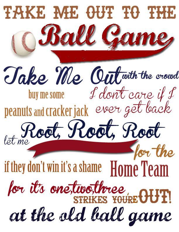 Baseball Boys Room Take Me Out to the Ball Game {With FREE Printable!}