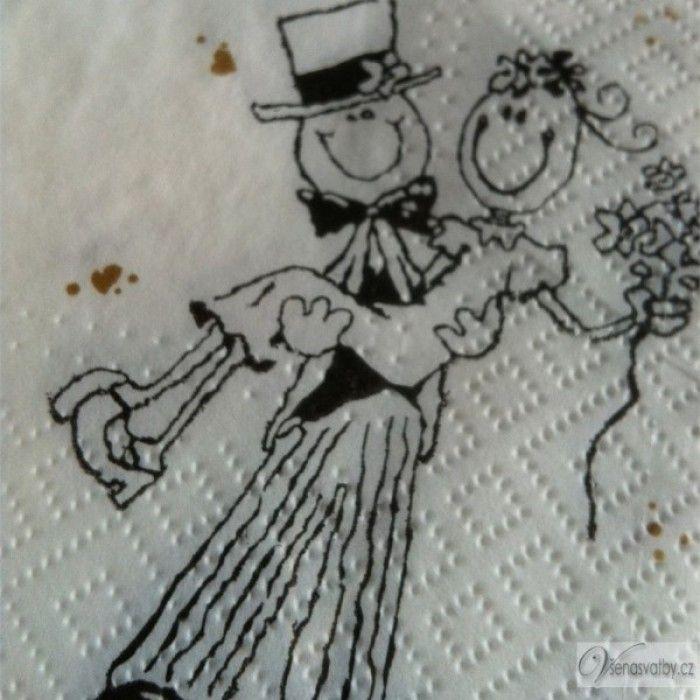 svatební ubrousky ženich a nevěsta - Hledat Googlem