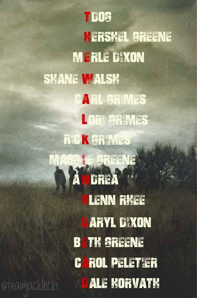The Walking Dead Cast Members ~ Season 1