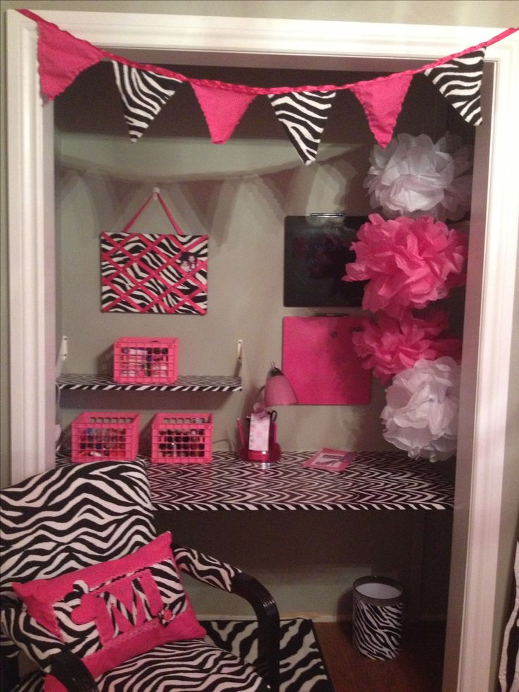 Marvelous Pink Zebra Print Bedroom Girly