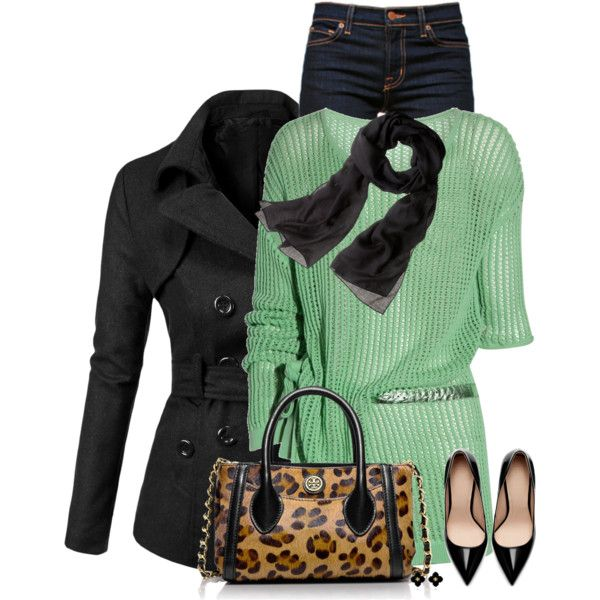"""Pop of Green"" by daiscat on Polyvore"
