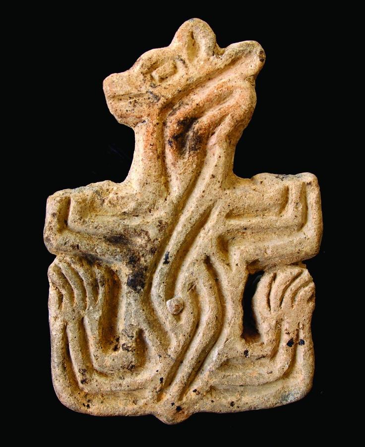 Çatalhöyük, stampo in terracotta raffigurante un orso (foto Çatalhöyük Research Project)