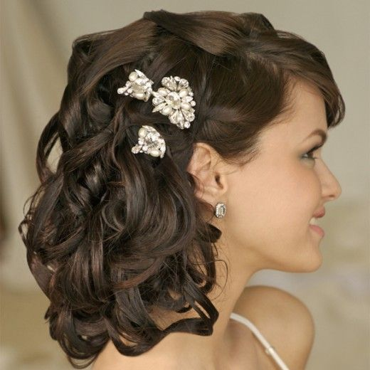 .: Hair Ideas, Medium Length, Shorts Hair, Long Hair, Bridal Hairstyles, Wedding Hair Style, Wedding Hairstyles, Shoulder Length Hair, Curly Hair