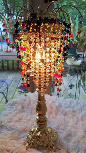 44 Best Beaded Fringe Lamps Images On Pinterest
