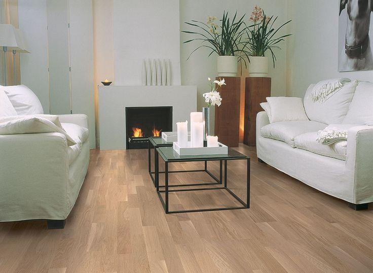"""Quick-Step Villa (VIL1360) """"Pure oak matt, 3 strip"""" Hardwood Floors www.quick-step.be"""