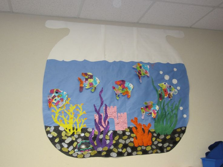 My IAs are amazing! They made a fish bowl bulletin board for Rainbow Fish.