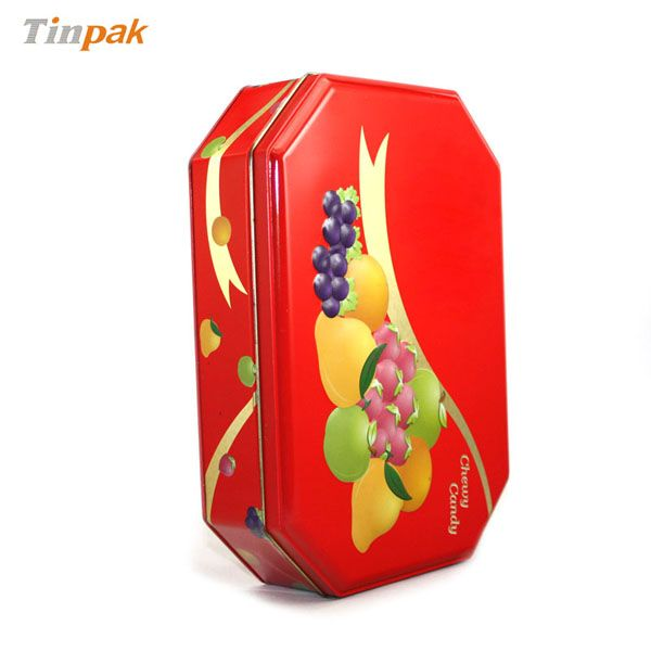 Quality candy tin with special shape