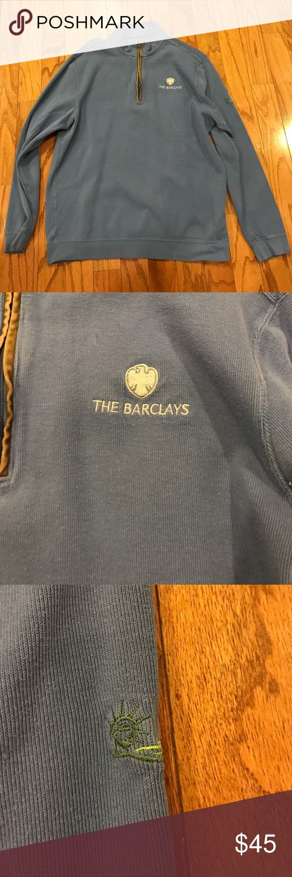Greg Norman the Barclays pull over Beautiful blue pull over zipper up greg norman Sweaters Zip Up