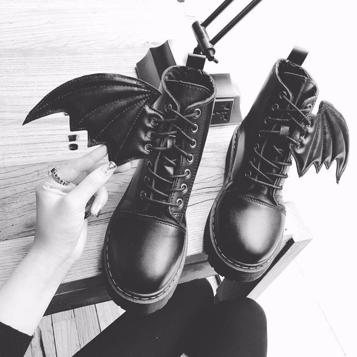 Harajuku students demon wingsboots SE9143