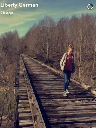 AN EERIE photograph of the old train bridge where the two Indiana girls Abigail Williams and Liberty German were abducted and murdered was posted four years ago on Facebook by Abigail's mother.