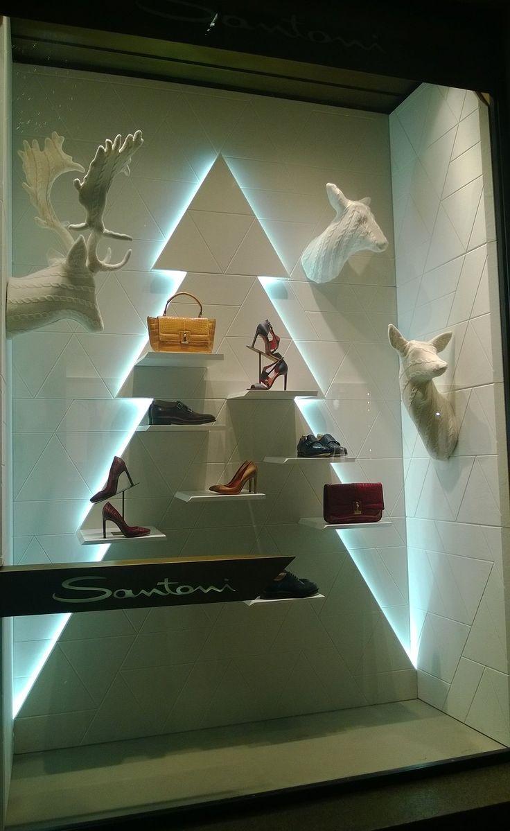 Christmas ornament display case - Which Way Should We Look Pinned By Ton Van Der Veer Christmas Window Displaychristmas