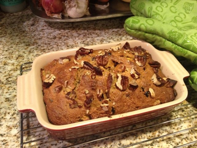 ... afternoon baking experiment...spiced pear & persimmon bread. yummy