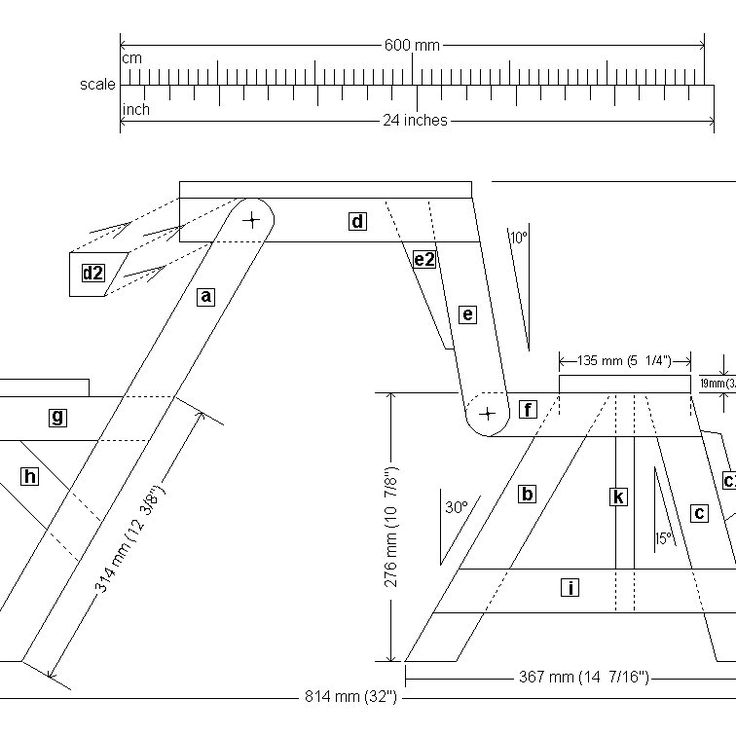 Kids size folding picnic table plans