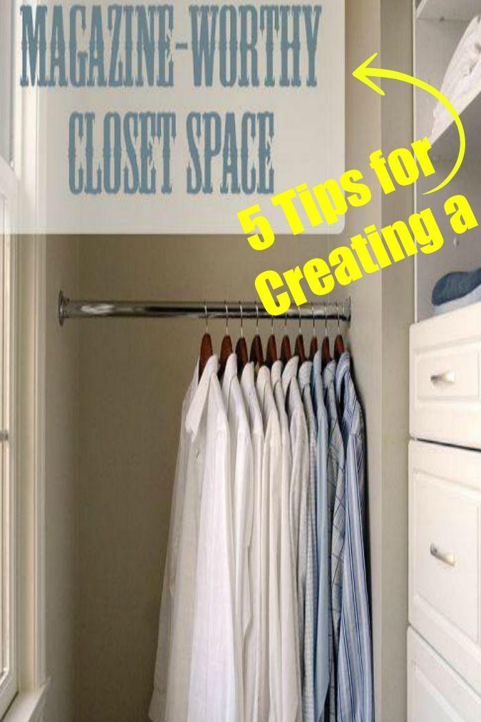 DIY:: 5 Super Qucik Tips for Creating a Magazine-Worthy Closet !
