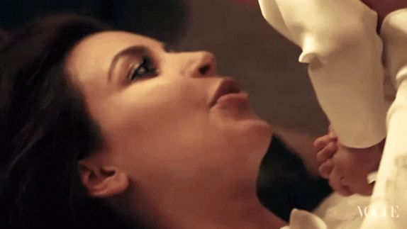 This moment between Kim and North. | 11 Moments Of Pure Love In KimYe's Vogue Photo Shoot