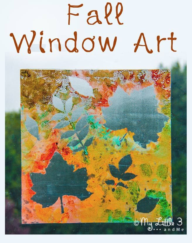 Make mess free, removable window paintings. A beautiful Fall art activity that captures the season's magic and brings all the beautiful colours inside. From My Little 3 and Me