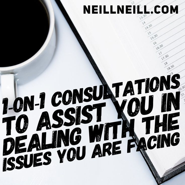 I offer 1-on-1 consultations to assist you in dealing with the issues you are facing.  http://www.neillneill.com/consultations