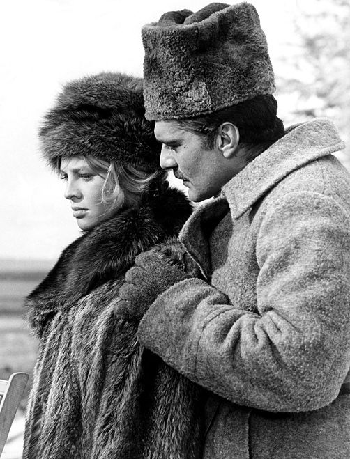 "Omar Shariff & Julie Christie  ""Doctor Zhivago"" - The first movie in my life that impacted me for the rest of my life.  I still visualize the images, often in my mind's eye."