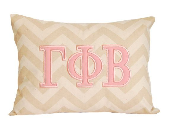 Pillow Greek Sorority Pillow Sorority Gift by FestiveHomeDecor, $32.00 Gamma Phi Beta Gift Decor