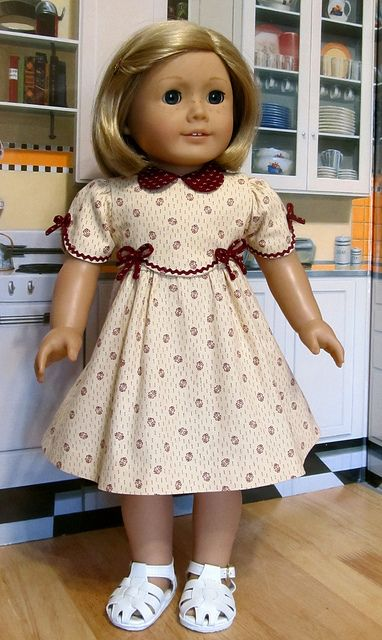 """1930's Frock - Made to Fit 18"""" American Girl Doll Kit or Ruthie, An Original Design By KeeperDollyDuds by Keepersdollyduds, via Flickr"""