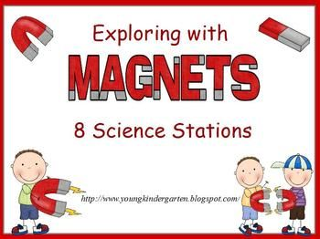 Magnet Science Stations for Little Ones. Printable signs/instructions for 8 magnet science stations to help little ones explore & learn with magnets.