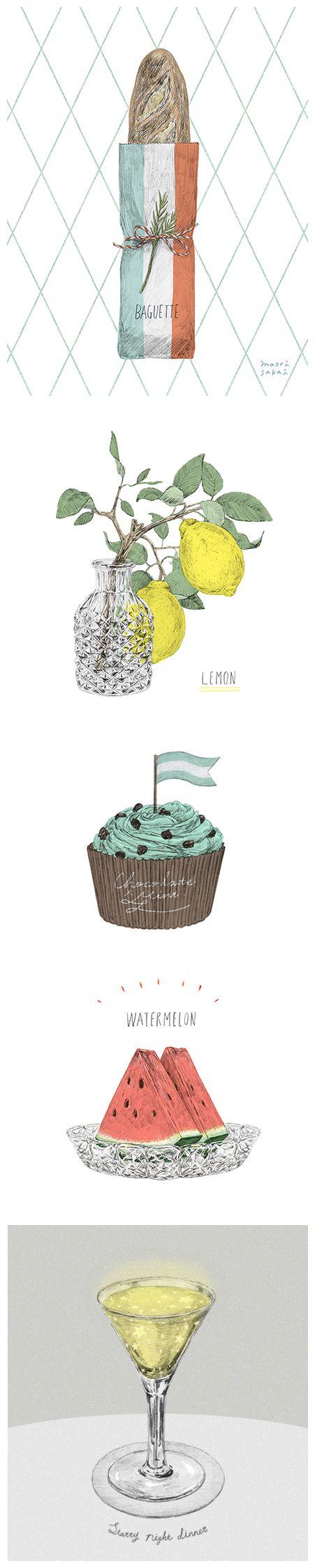 Food illustrations by Maori Sakai